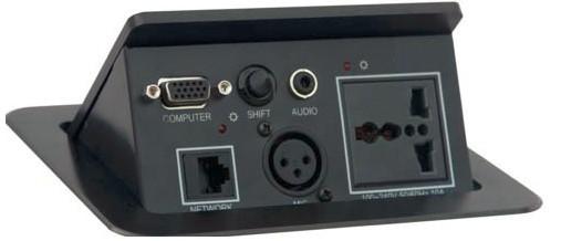 先锋网哥要插_会议桌插 1个电源,1个网口,1个vga,1个3.5音频,1个卡侬,1个切换键